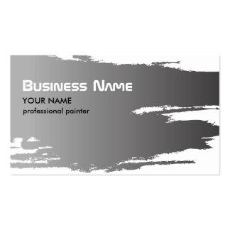 Modelo de cartão de negócios de prata do pintor cartoes de visitas