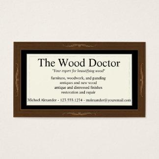 Modelo de cartão de negócios de Woodlook