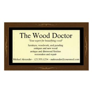 Modelo de cartão de negócios de Woodlook Modelo Cartões De Visitas