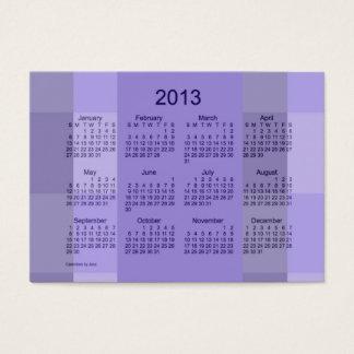 Modelo de cartão de negócios do calendário de 2013