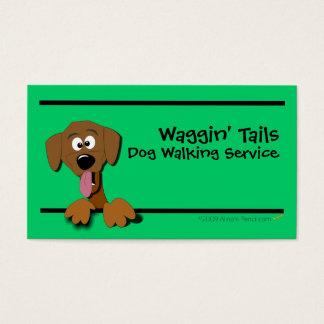 Modelo de cartão de negócios do cão dos desenhos