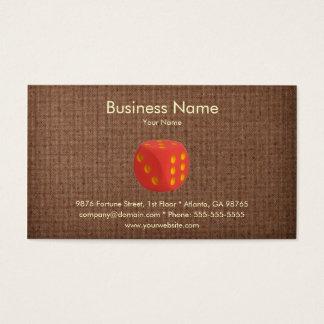 Modelo de cartão de negócios do casino