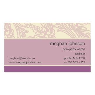 Modelo de cartão de negócios do chique do Lilac do Cartão De Visita