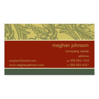Modelo de cartão de negócios do chique do tijolo d cartão de visita