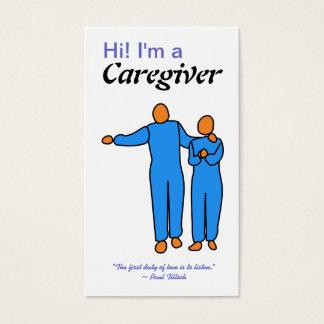 Modelo de cartão de negócios do cuidador