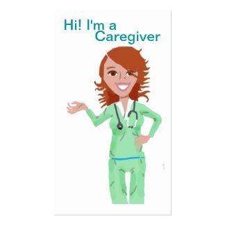 Modelo de cartão de negócios do cuidador cartoes de visitas