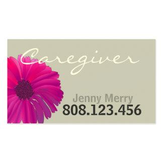 Modelo de cartão de negócios do cuidador da flor cartoes de visitas