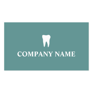 Modelo de cartão de negócios do dentista com logot cartão de visita