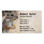 Modelo de cartão de negócios do escritor do esquil cartoes de visita