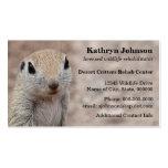 Modelo de cartão de negócios do esquilo do deserto cartoes de visitas