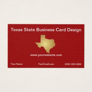 Modelo de cartão de negócios do estado do Texas