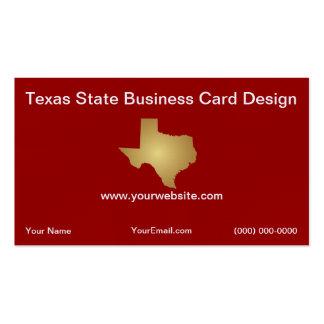 Modelo de cartão de negócios do estado do Texas Cartão De Visita