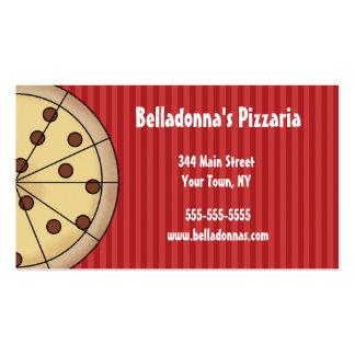 Modelo de cartão de negócios do italiano de Pizzar Cartoes De Visitas