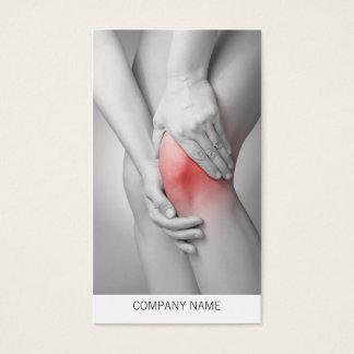 Modelo de cartão de negócios do joelho da mulher