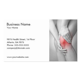 Modelo de cartão de negócios do joelho da mulher cartões de visitas