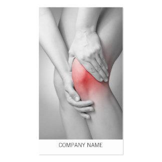 Modelo de cartão de negócios do joelho da mulher cartão de visita