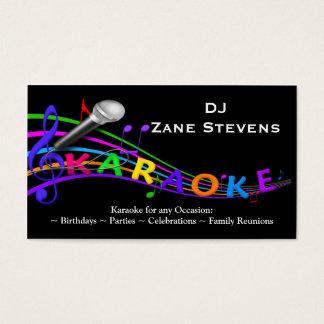 Modelo de cartão de negócios do karaoke do DJ
