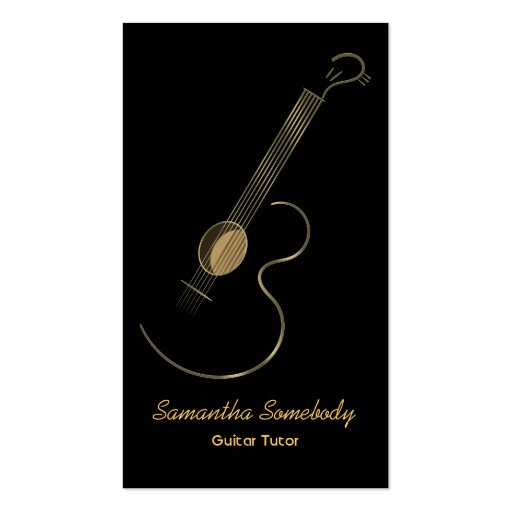 Modelo de cartão de negócios do logotipo da guitar cartoes de visita