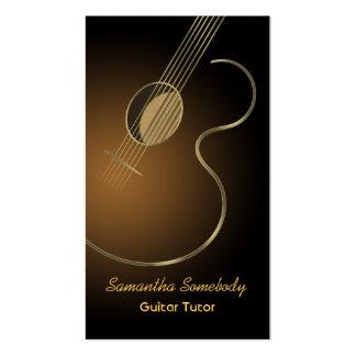 Modelo de cartão de negócios do logotipo da guitar modelos cartões de visitas