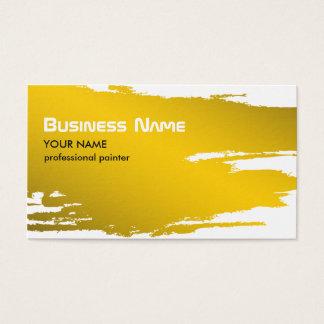 Modelo de cartão de negócios do ouro do pintor