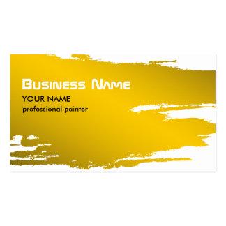 Modelo de cartão de negócios do ouro do pintor cartão de visita