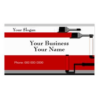 Modelo de cartão de negócios do pintor modelos cartões de visitas