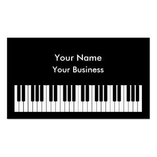 Modelo de cartão de negócios do teclado de piano cartões de visita