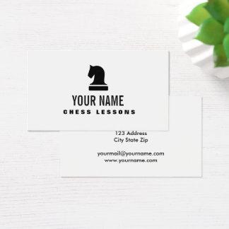 Modelo de cartão de negócios do tutor do professor