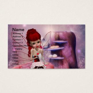 Modelo de cartão de negócios doce da fada do amor