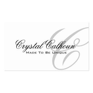 Modelo de cartão de negócios elegante do monograma cartao de visita