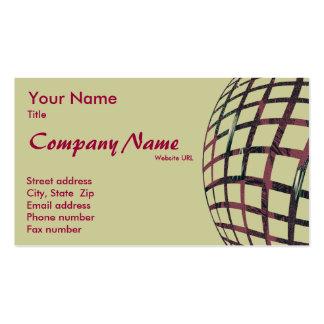 Modelo de cartão de negócios esfèrica claro cartão de visita