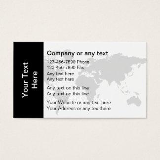 Modelo de cartão de negócios global