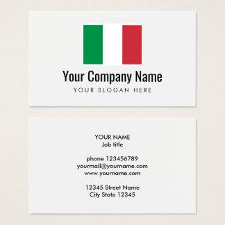 Modelo de cartão de negócios italiano do logotipo