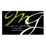 Modelo de cartão de negócios moderno do monograma cartao de visita