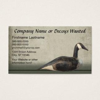 Modelo de cartão de negócios: Negócio do chamariz
