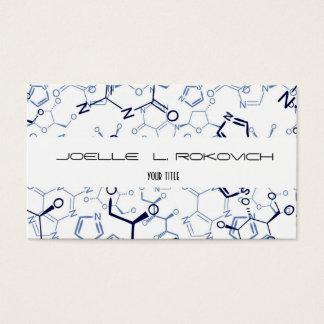 Modelo de cartão de negócios químico dos símbolos