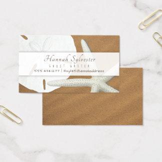 Modelo de cartão de negócios simples dos Seashells