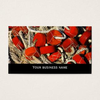 Modelo de cartão de negócios vermelho do marisco