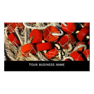 Modelo de cartão de negócios vermelho do marisco cartão de visita