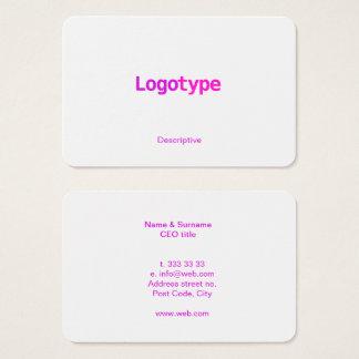 Modelo de cartão de negócios vibrante moderno do