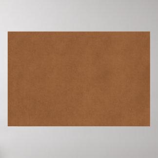 Modelo de couro do papel de pergaminho de Brown do Poster