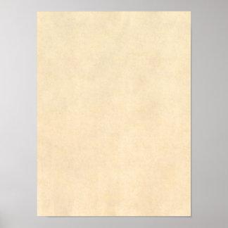 Modelo de couro do pergaminho de Tan do Buckskin d Poster