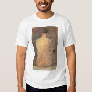 Modelo de de trás por Georges Seurat, arte do Tshirts