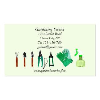 Modelo de jardinagem do cartão de empresa de servi cartoes de visitas