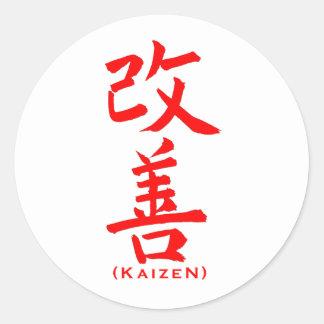 Modelo de Kaizen Adesivo Redondo