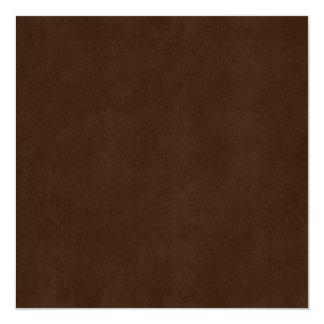 Modelo de papel antigo escuro de Brown do café do Convite Quadrado 13.35 X 13.35cm
