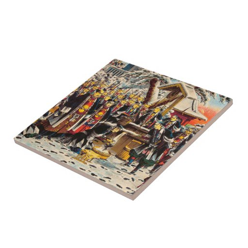 Modelo de pintura histórico clássico de Japão Bush Azulejos