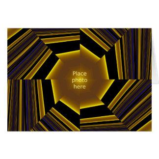 Modelo de quadro #1 da imagem do ouro cartao