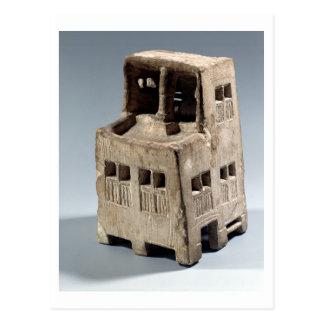 Modelo de uma casa (pedra calcária) cartão postal