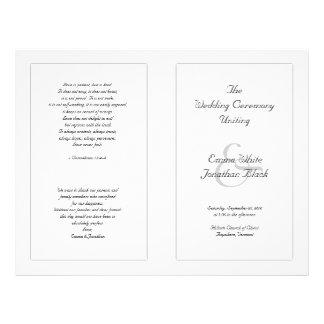 Modelo disponível preto e branco da cerimónia panfleto